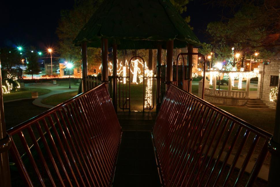Download Free Stock Photo of Playground at Night