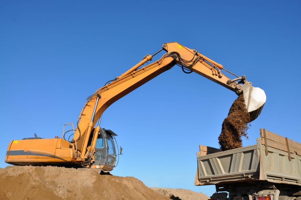 Download Free Stock HD Photo of Excavator and truck Online