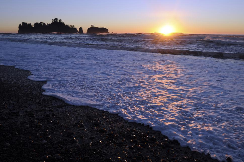 Download Free Stock Photo of Rialto Beach Sunset