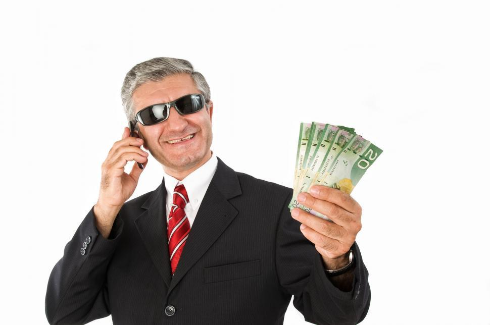 Download Free Stock HD Photo of Businessman with Money Online