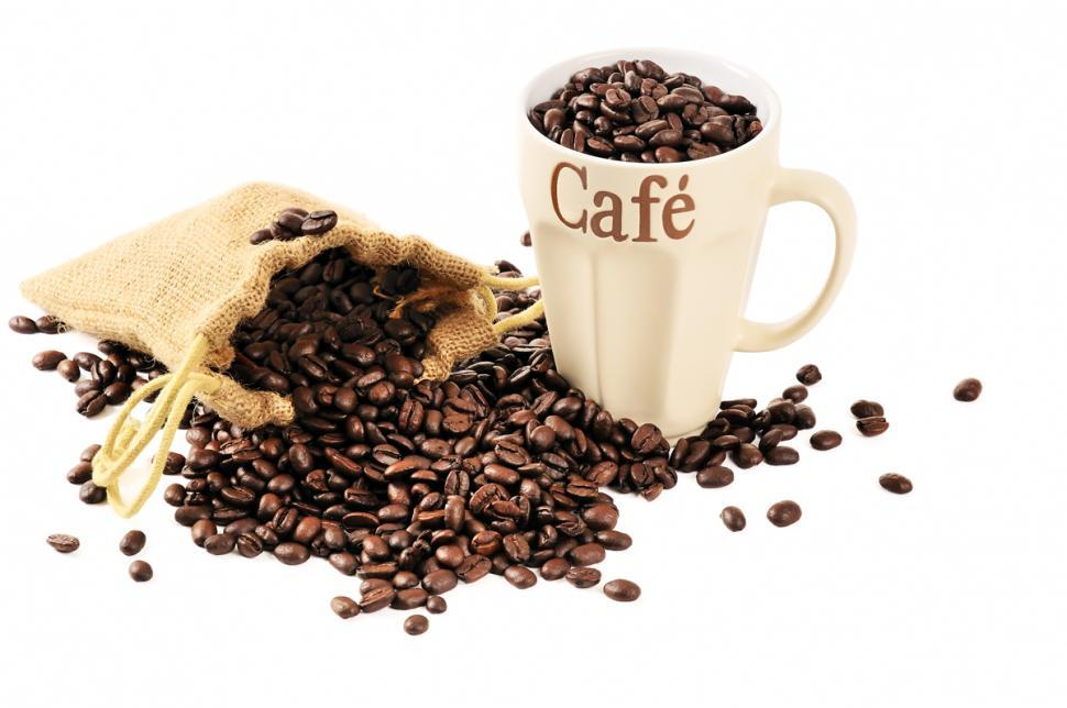 Download Free Stock HD Photo of Coffee beans in mug Online