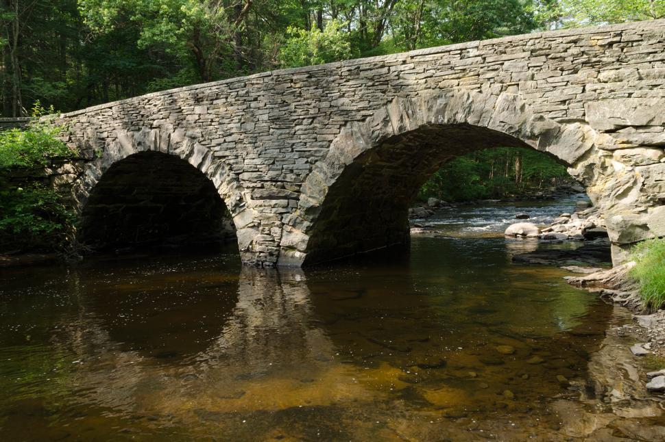Download Free Stock Photo of Stone Arch Bridge over Ten Mile River, Tusten, New York