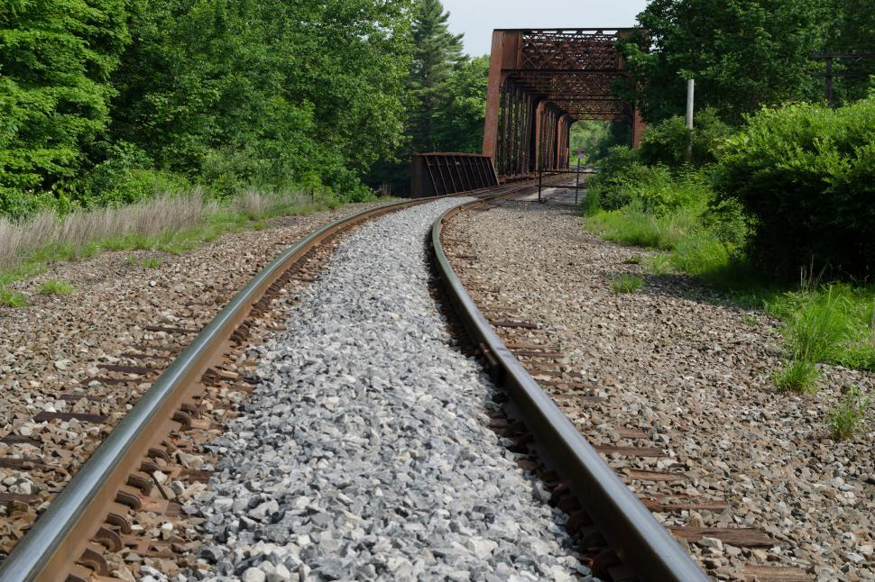 Download Free Stock Photo of Approach to Railroad Bridge No. 9 - Tusten NY