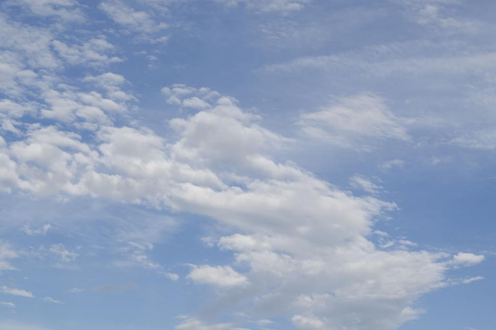 Download Free Stock Photo of White Clouds against Blue Sky