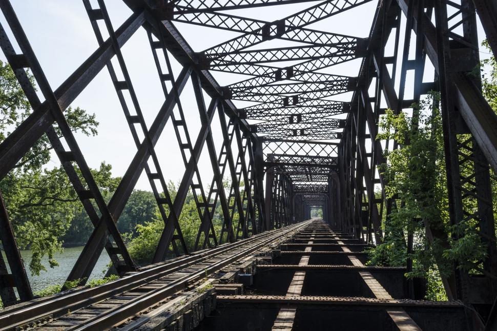 Download Free Stock Photo of Johnson City NY to Vestal NY RR Bridge