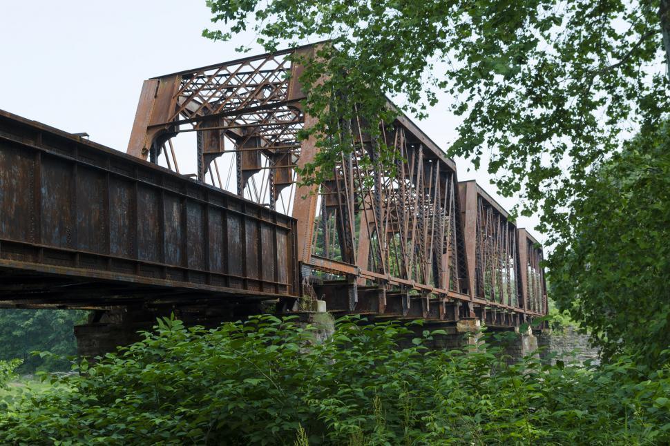 Download Free Stock Photo of Railroad Bridge No. 9 - Tusten NY