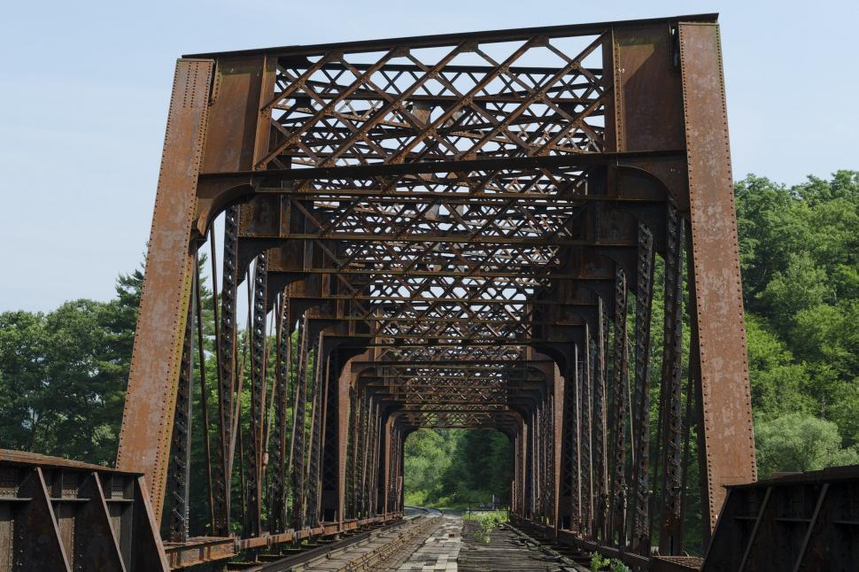 Download Free Stock Photo of Railroad Bridge No. 9 - Portal View