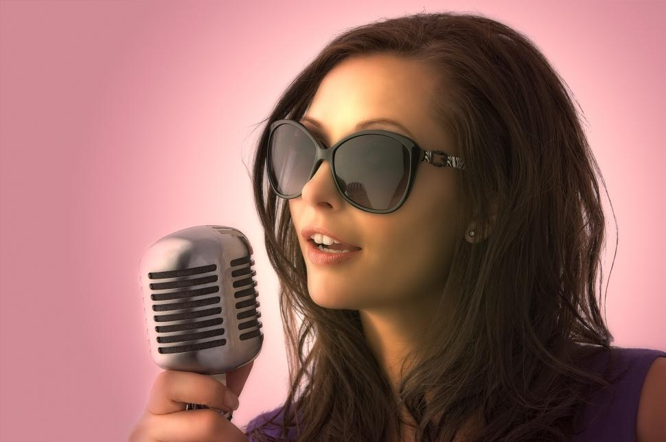Download Free Stock HD Photo of Singer in Sunglasses Online