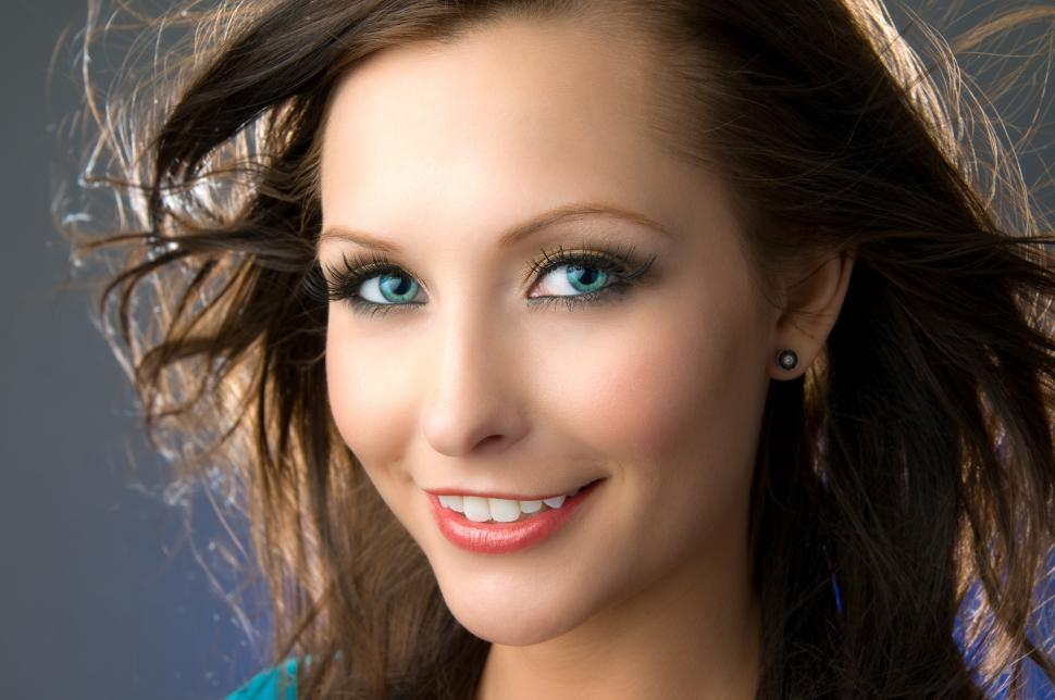 Download Free Stock Photo of Pretty young woman headshot
