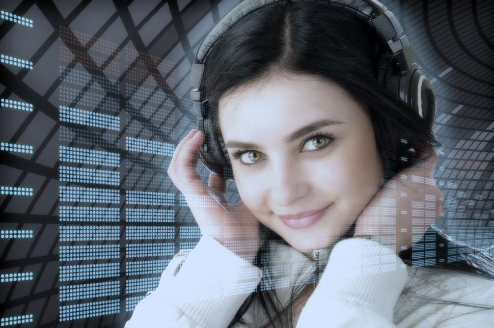 Download Free Stock Photo of Girl listens to music