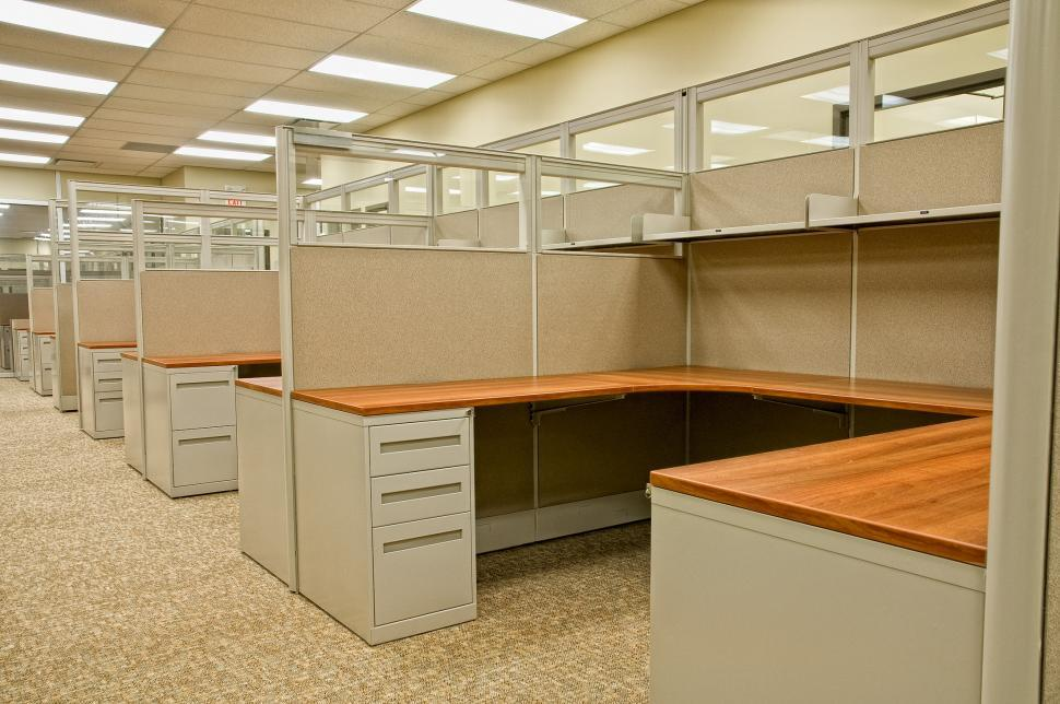 Download Free Stock Photo of Office Cube Spaces