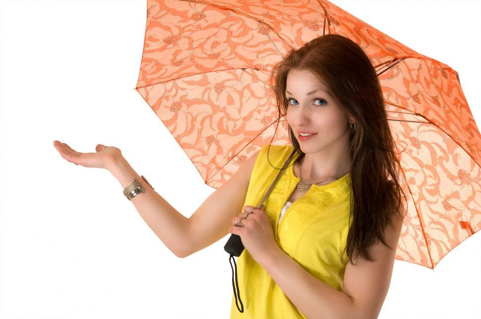Download Free Stock Photo of Woman with umbrella
