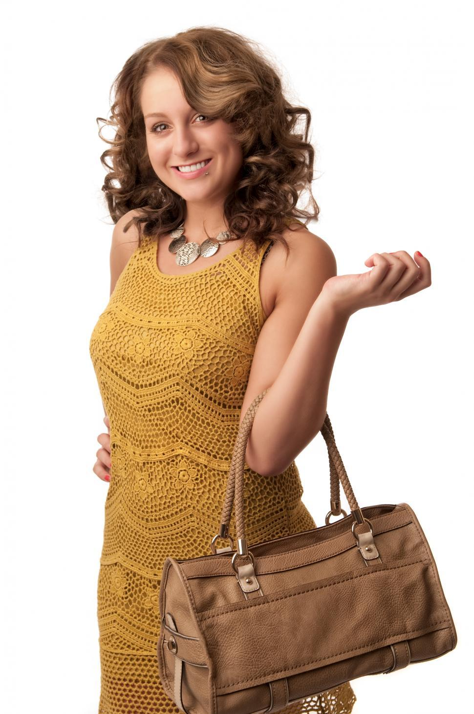 Download Free Stock HD Photo of Happy woman with purse Online