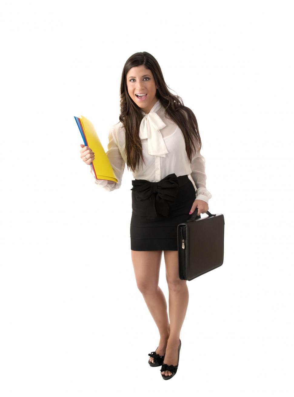 Download Free Stock Photo of Businesswoman with Briefcaseq
