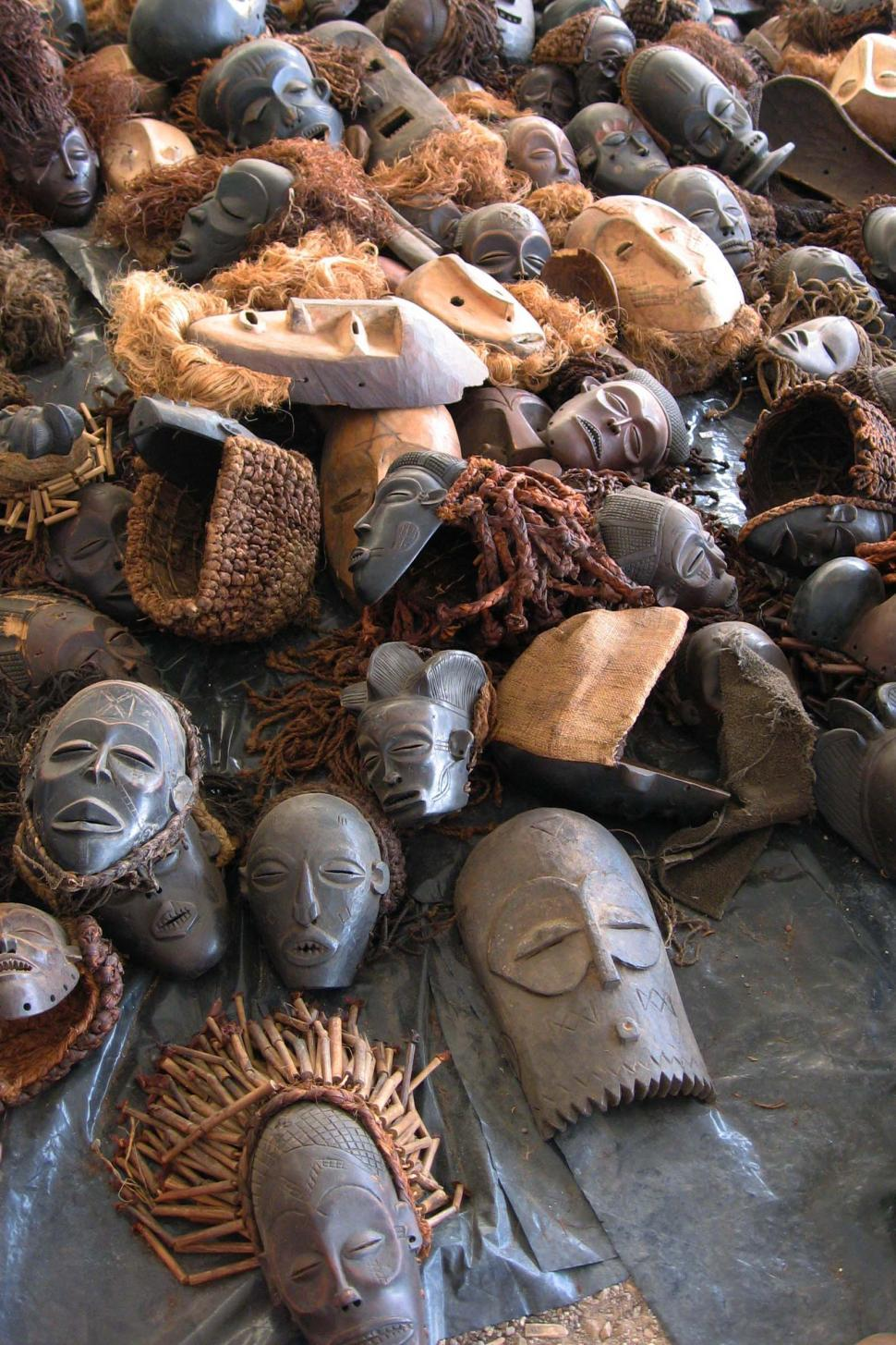 Download Free Stock Photo of Various African Masks