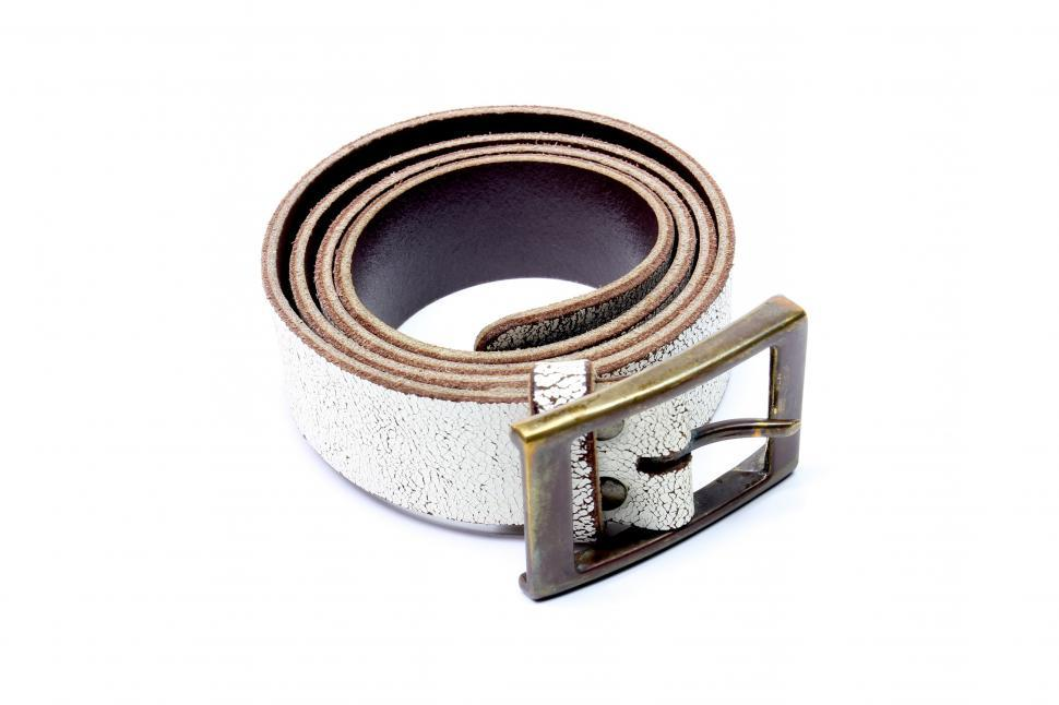 Download Free Stock HD Photo of White leather belt  Online
