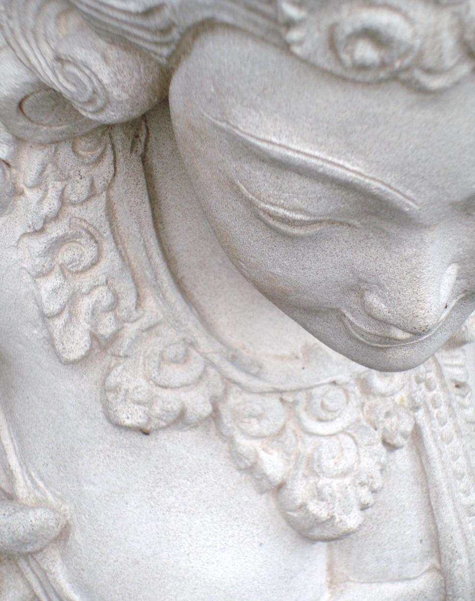 Download Free Stock Photo of Decorative Oriental Stone Sculpture