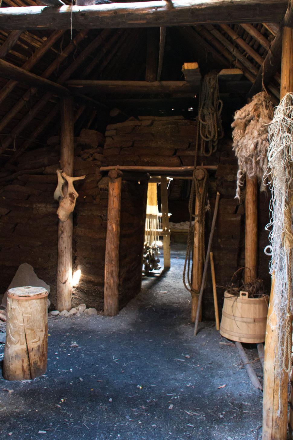 Download Free Stock Photo of Viking longhouse