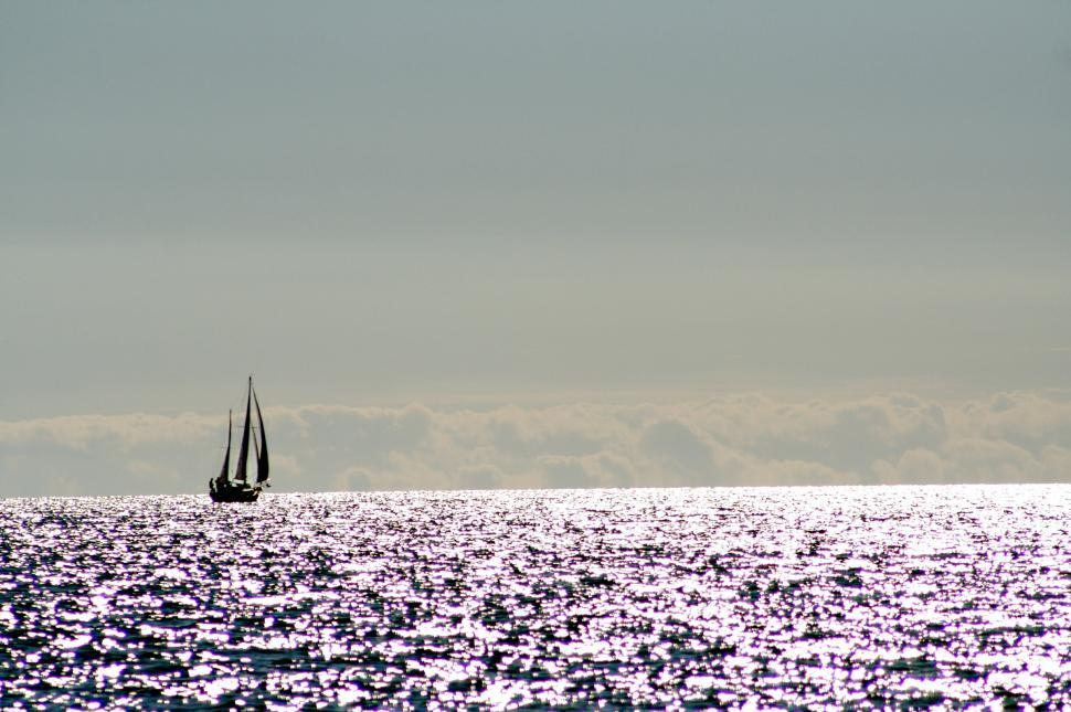 Download Free Stock HD Photo of boat on the horizon Online