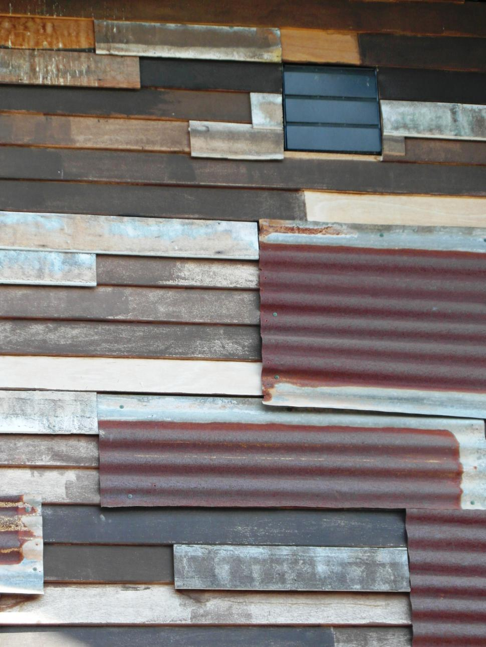 Download Free Stock Photo of Corrugated Panels Background