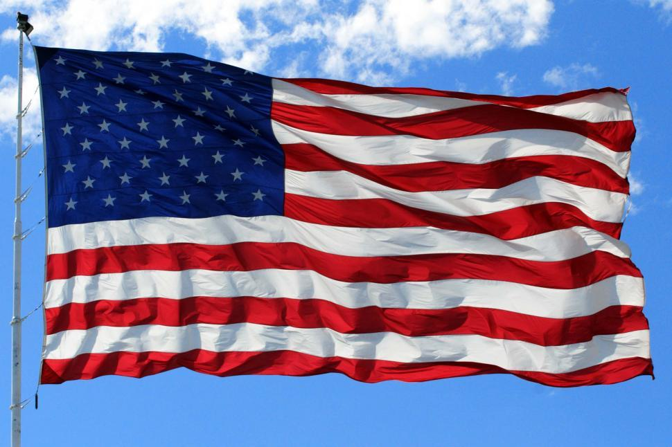 Download Free Stock Photo of Full American Flag