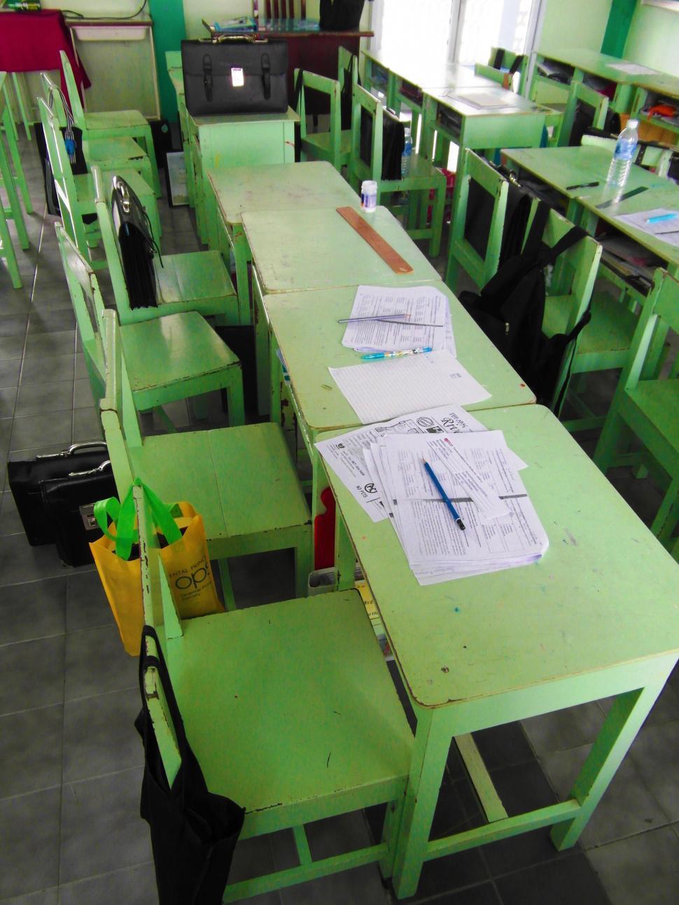 Download Free Stock HD Photo of Classroom Desks Online