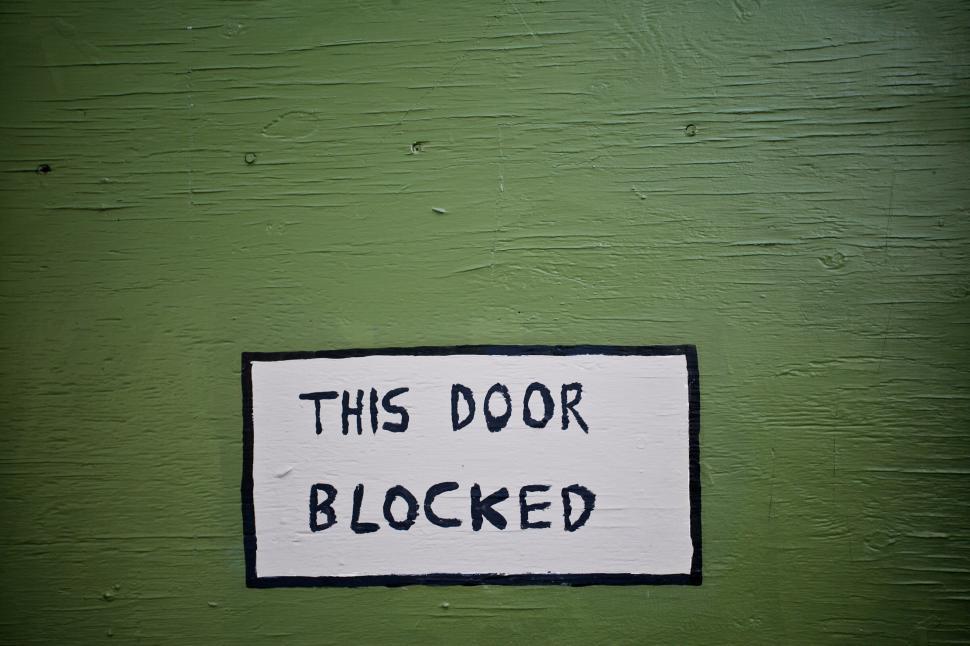 Download Free Stock HD Photo of Door Sign Online