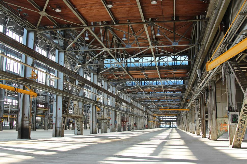Download Free Stock Photo of Industrial Warehouse