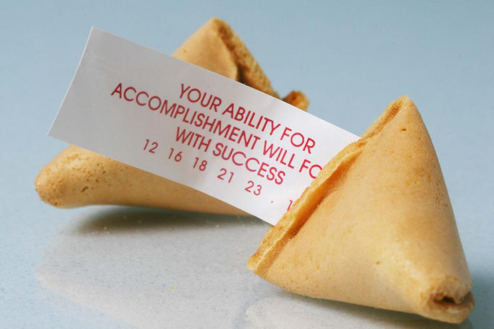 Download Free Stock Photo of Open fortune cookie with fotune
