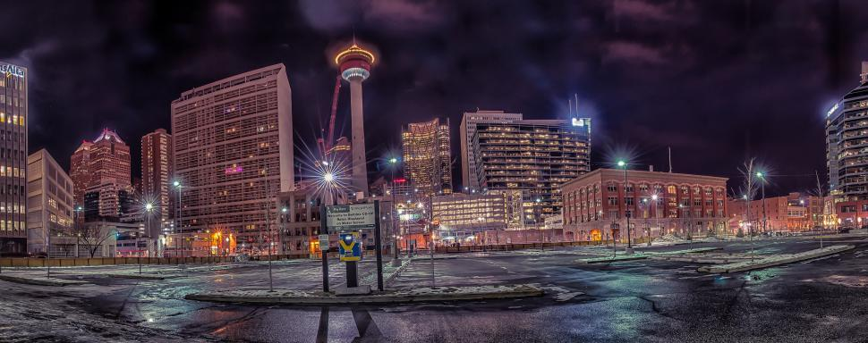 Download Free Stock HD Photo of Calgary at Night Online