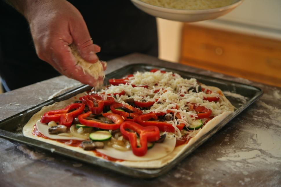 Download Free Stock Photo of Preparing Pizza