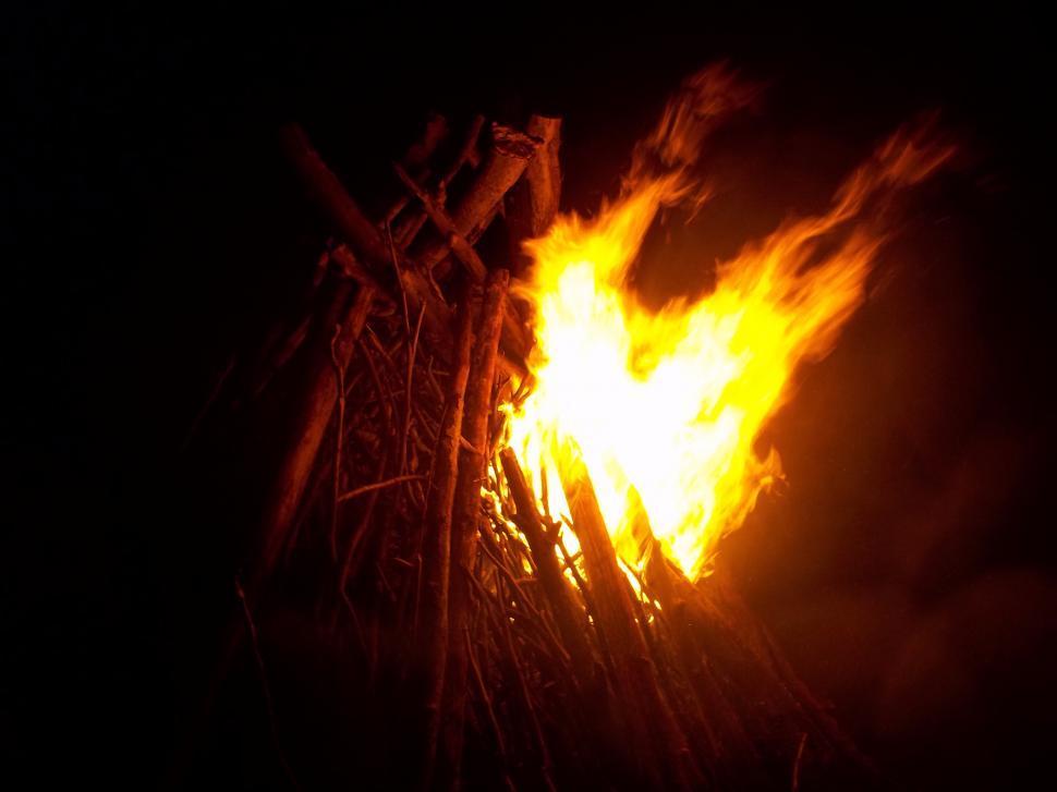 Download Free Stock Photo of Bonfire at night - Pagan Remembrance