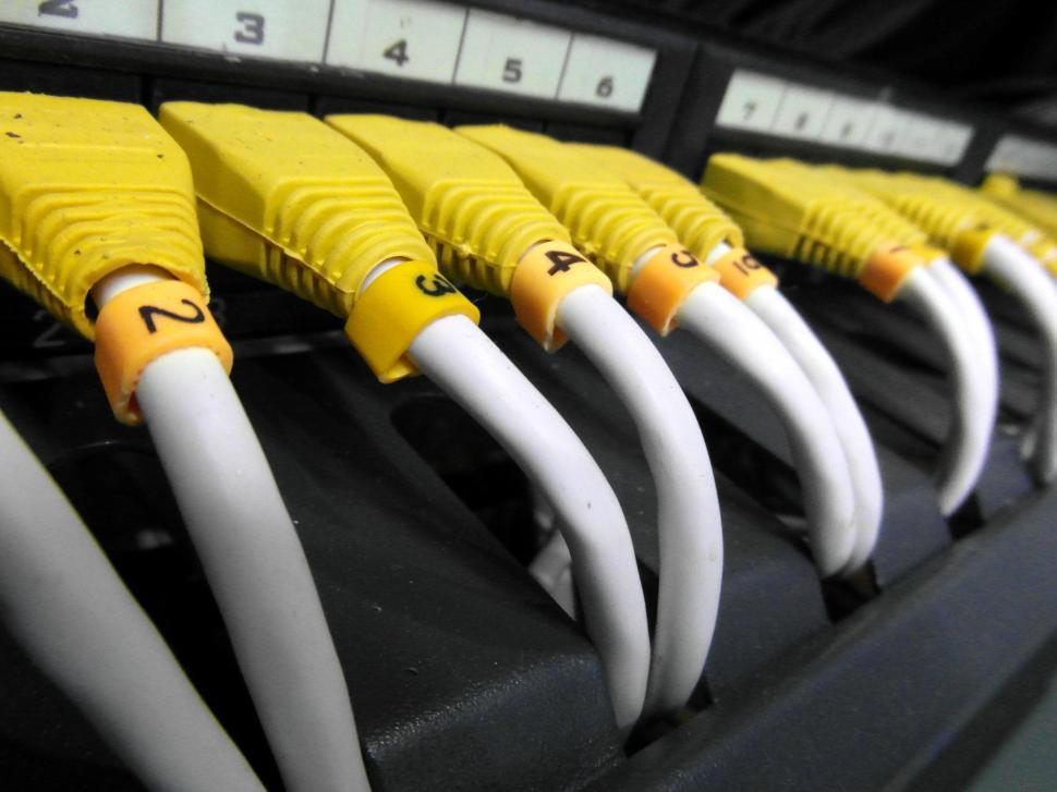 Download Free Stock HD Photo of Server Network Cables Online