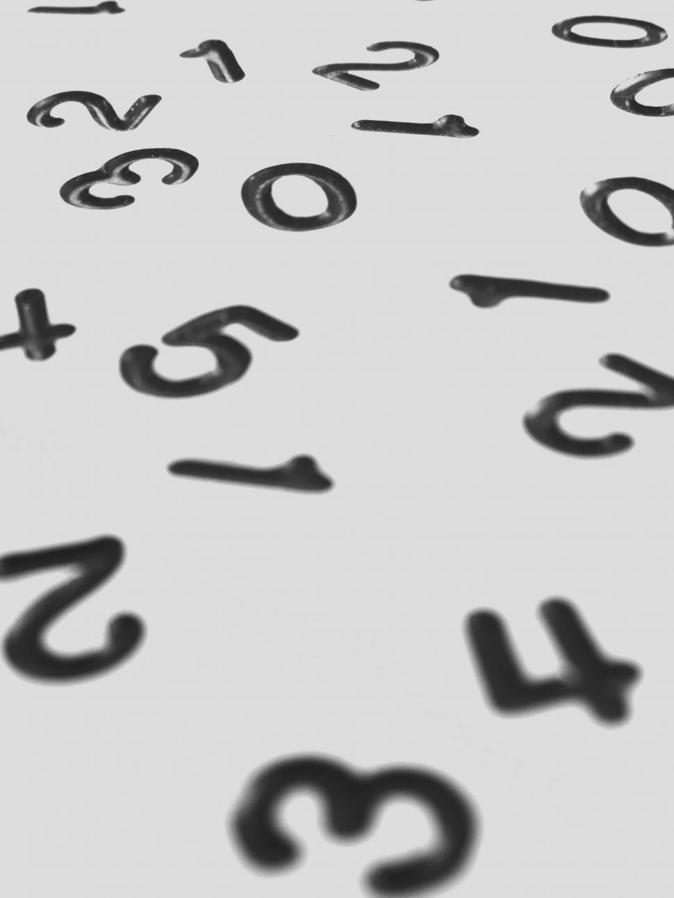 Download Free Stock Photo of Random Numbers