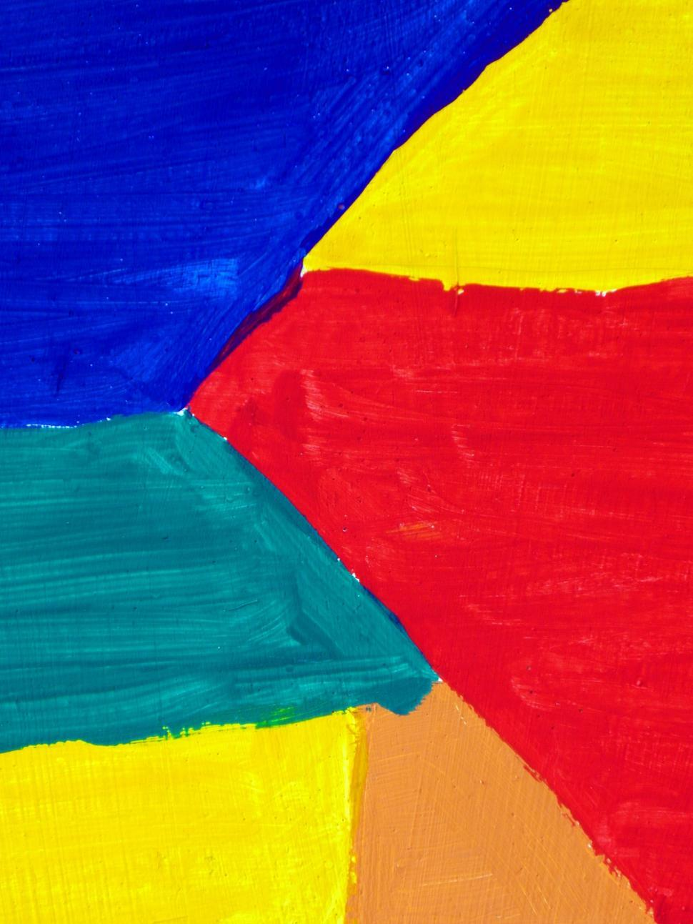 Download Free Stock Photo of Painted Abstract Shapes