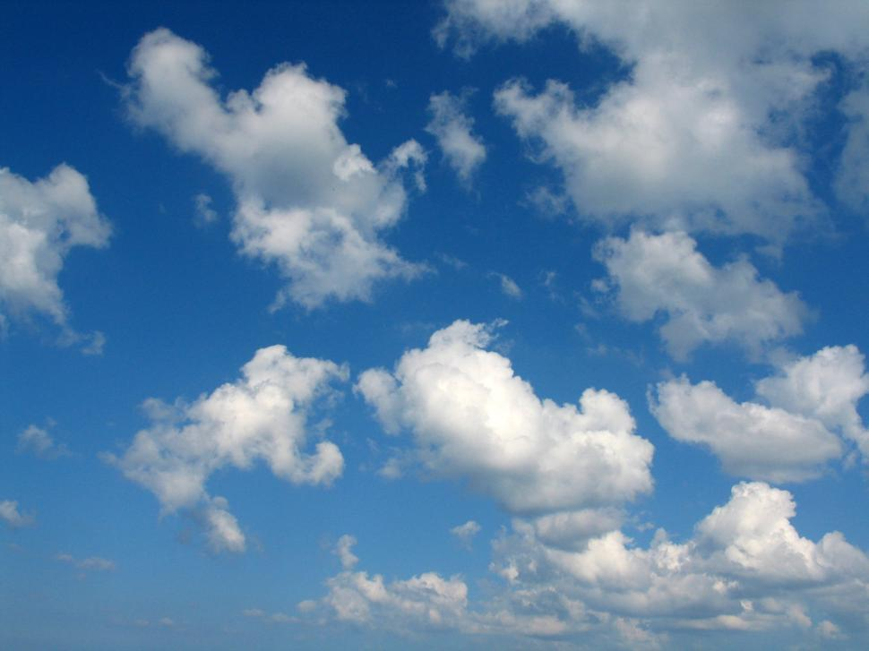 Download Free Stock Photo of Blue sky and clouds