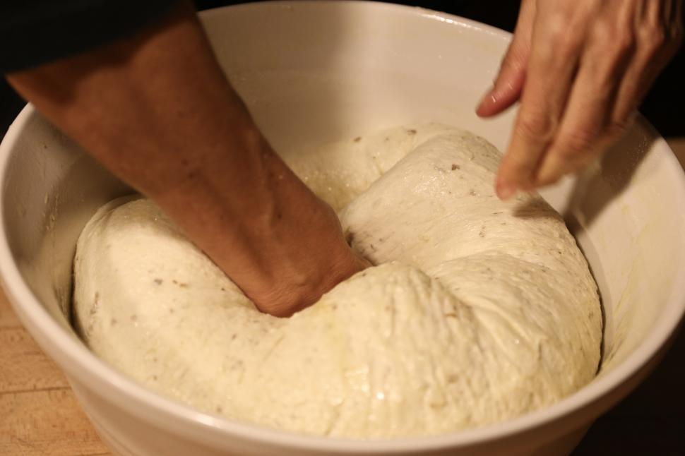 Download Free Stock HD Photo of Kneading the dough Online
