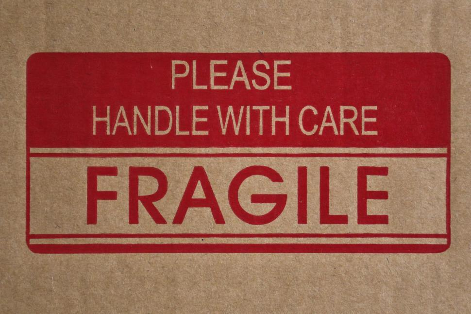 Download Free Stock Photo of Fragile Sign