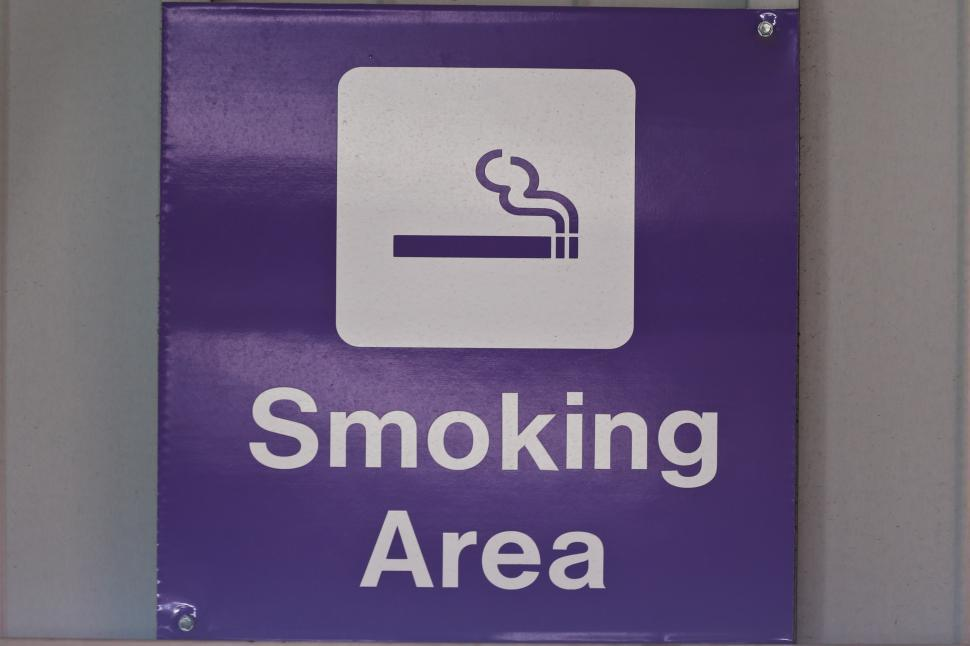 Download Free Stock HD Photo of Sign - Smoking area Online