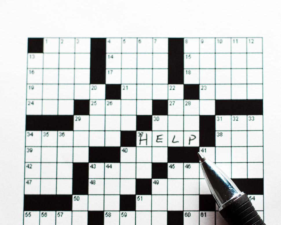 Download Free Stock Photo of Crossworsd Puzzle