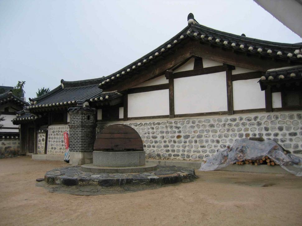 Download Free Stock Photo of Korean houses