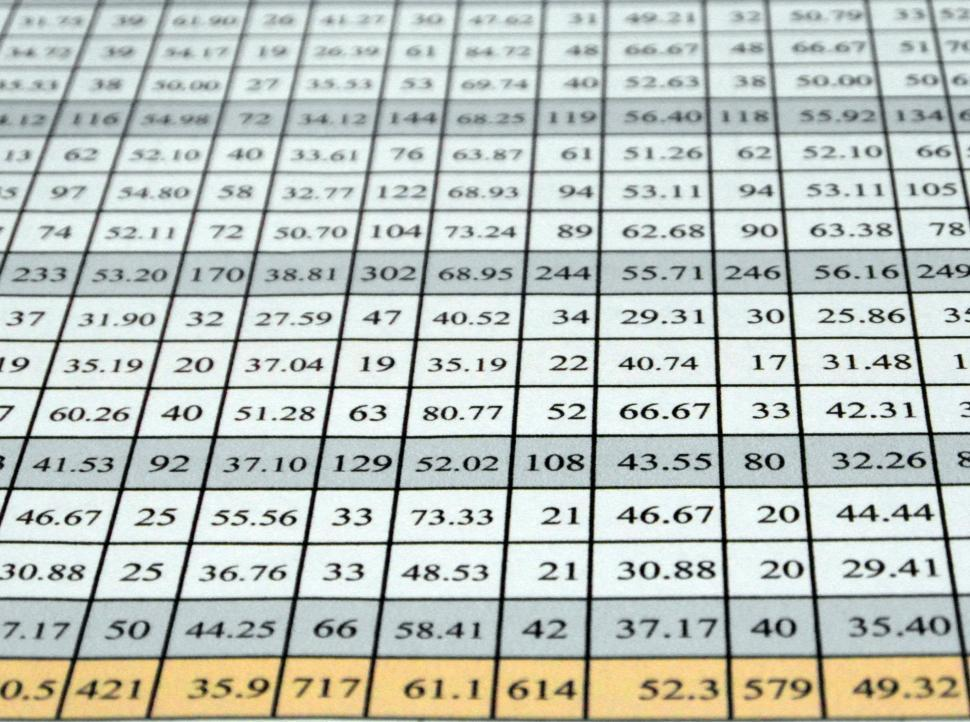 Download Free Stock Photo of Excel Data Table