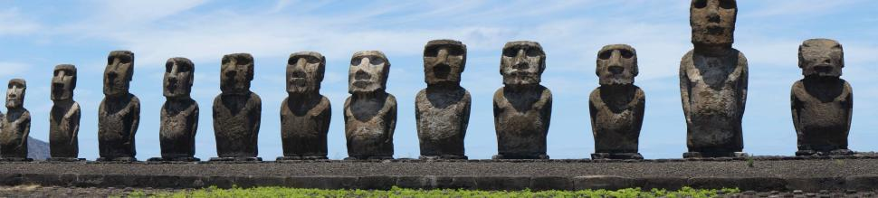 Download Free Stock HD Photo of Easter Island Statues Online