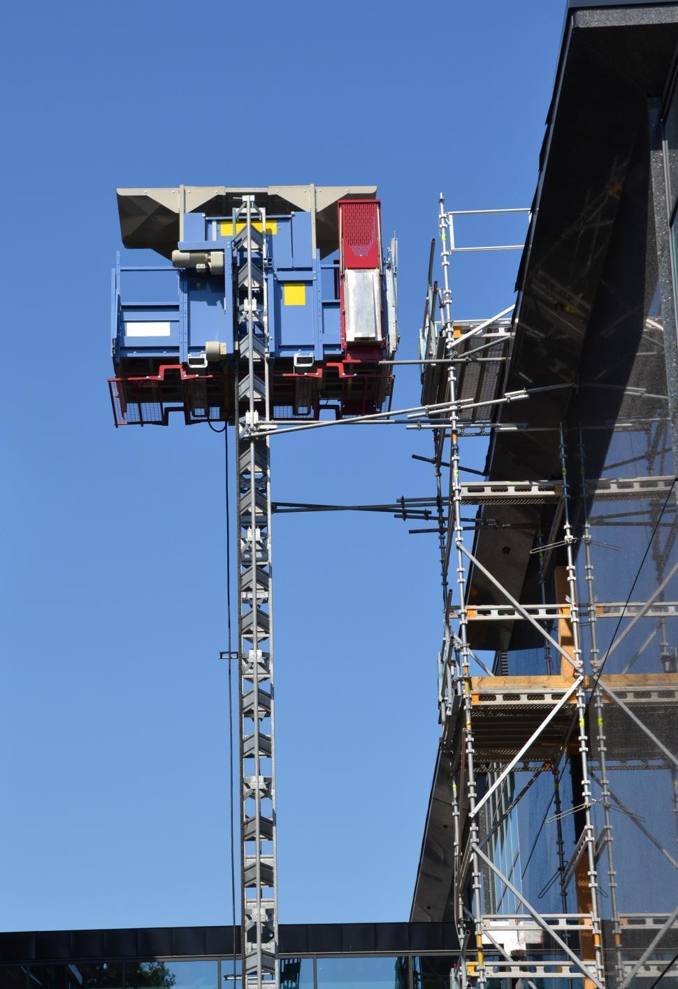 Download Free Stock HD Photo of Construction hoist/elevator Online