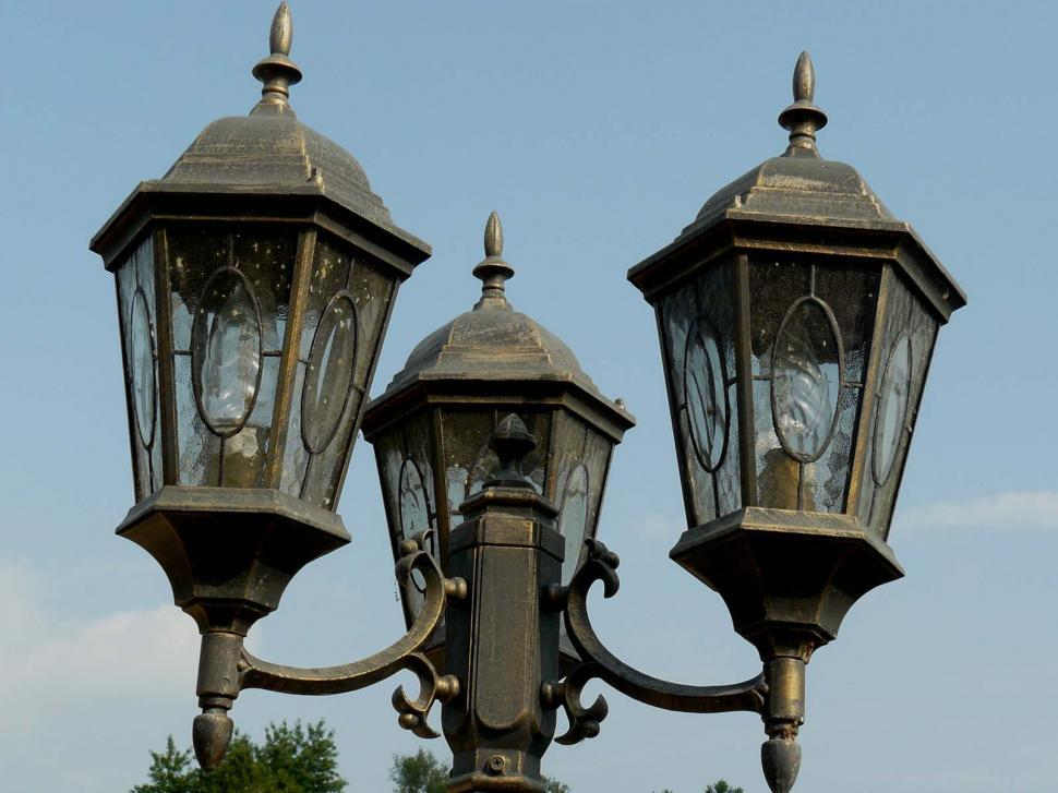 Download Free Stock HD Photo of Three Lamp Posts Online