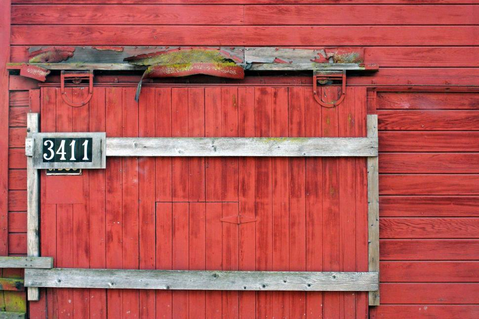Download Free Stock Photo of Red barn door
