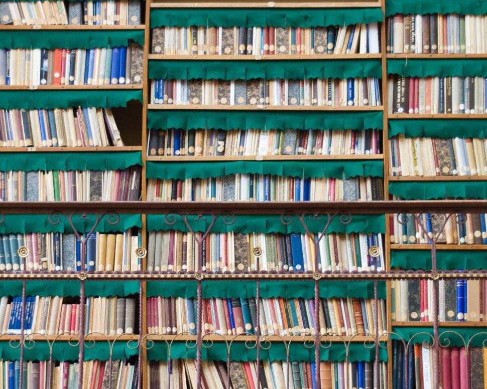 Download Free Stock Photo of Book Shelves - Background
