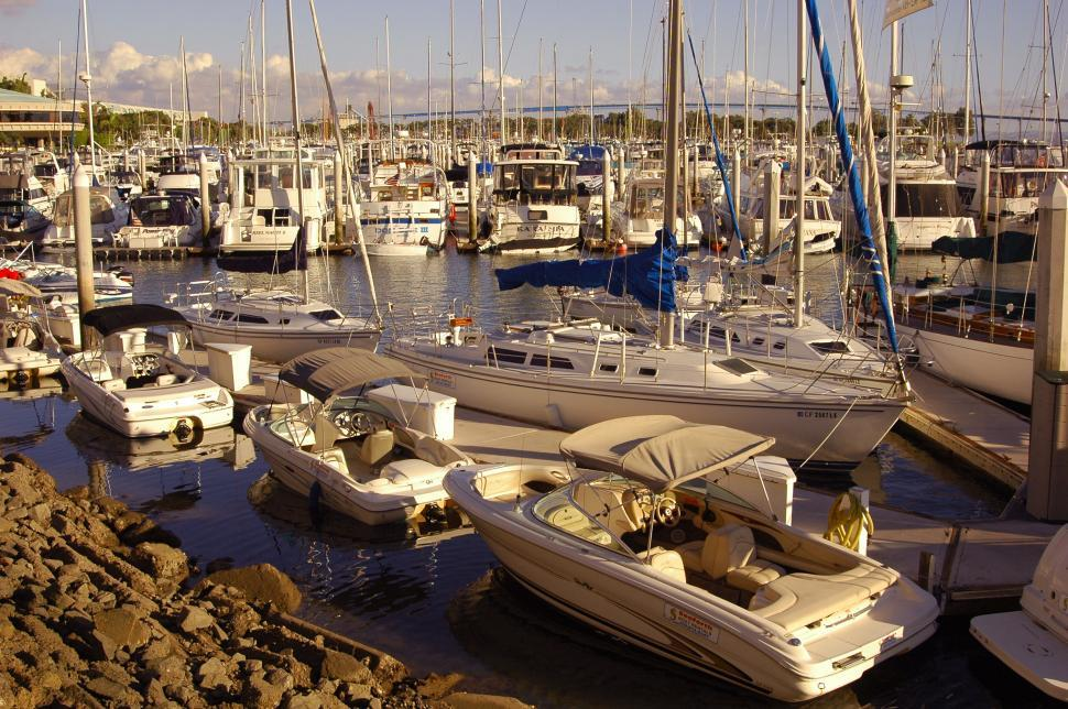 Download Free Stock HD Photo of Boats in a Marina Online