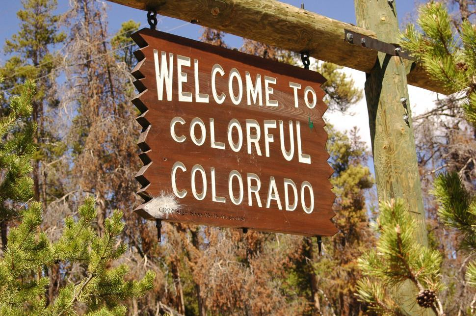 Download Free Stock HD Photo of Welcome to Colorful Colorado Sign Online