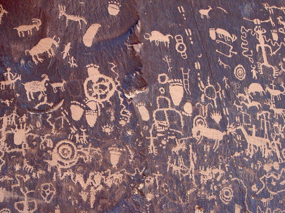 Download Free Stock HD Photo of Newspaper Rock Petroglyphs Online
